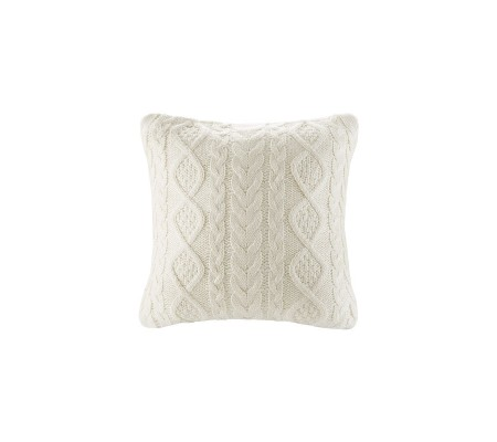 100% Cotton Knitted Decorative Cable Braid and Diamond Knitting Square Warm Throw Pillow Cover/Cushion Cover